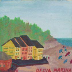 Watercolor of Deiva Marina, Liguria Italy