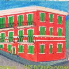 Watercolor of Hotel en Deiva Marina Liguria Italy