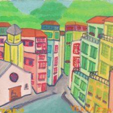 Watercolor of Vernazza Cinque Terre Italy