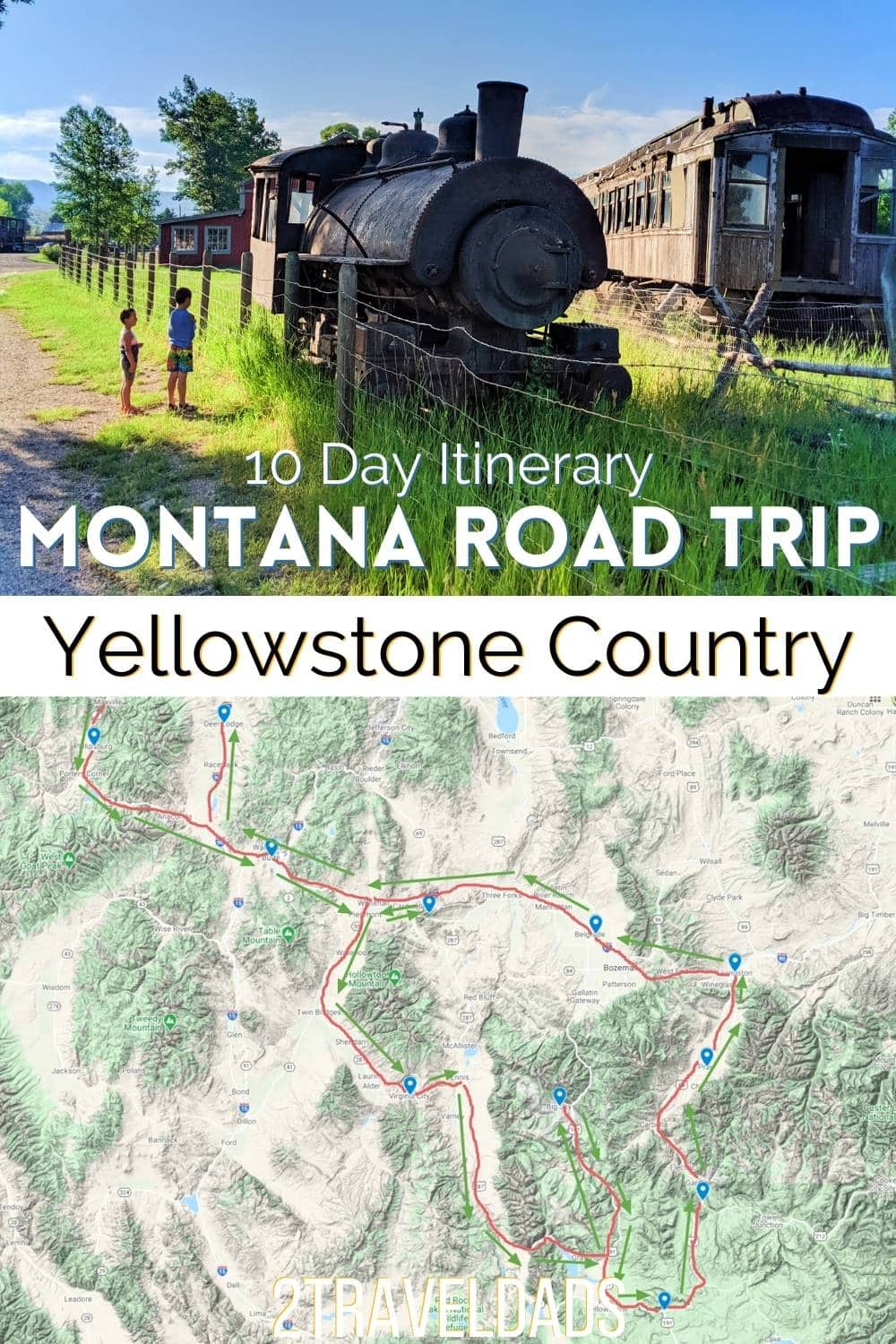 Montana road trip itinerary for 5 or 10 days of western towns and Yellowstone country. This adventure road trip includes national parks, antique stops, and Montana attractions.