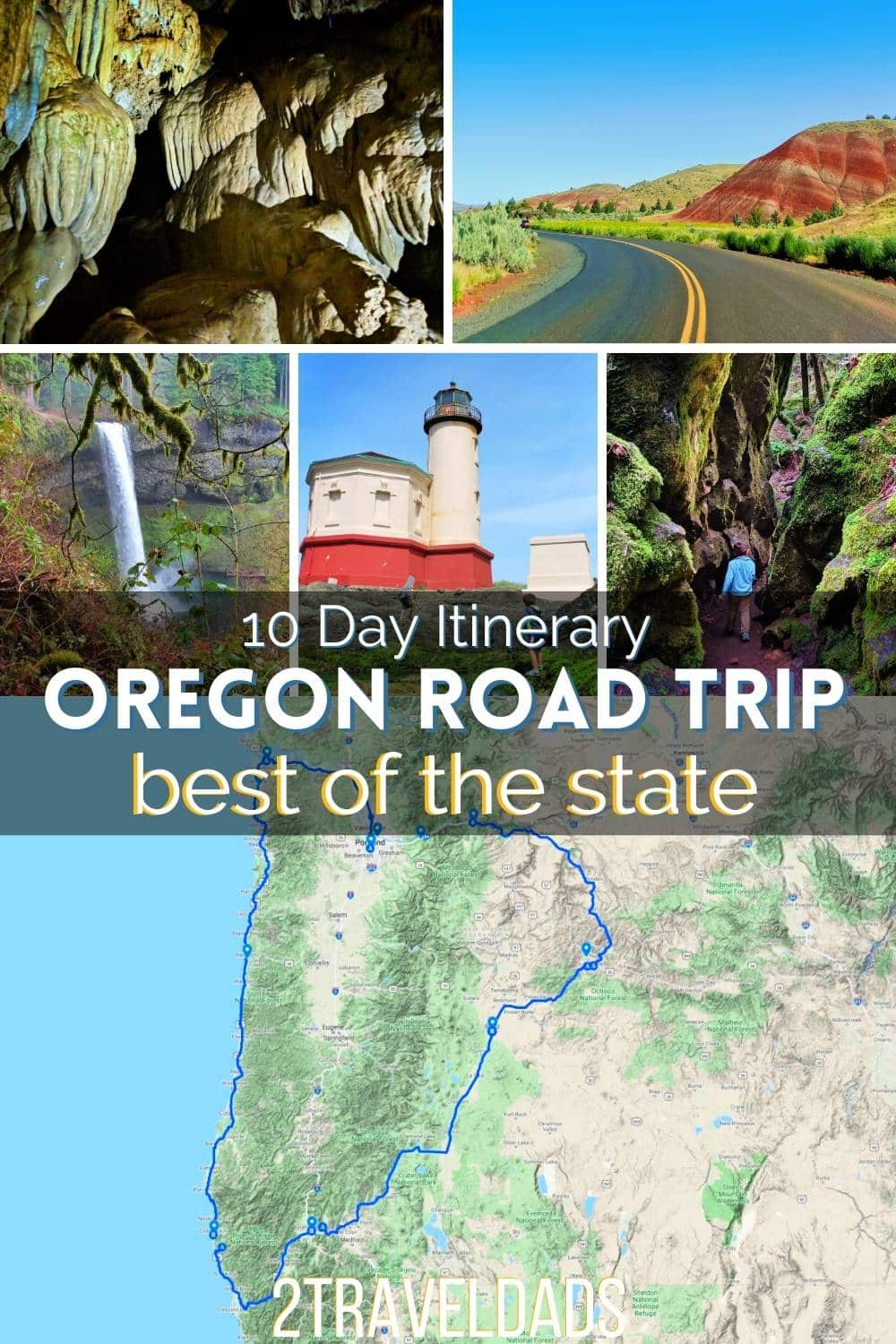 10 Road Trip plan for the best of Oregon, from the rugged Oregon Coast to the mountain waterfalls and the colorful high desert. Oregon's best sights in 10 days of epic road trip.