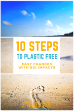 Going plastic free happens in waves, but here are 10 EASY ways to make BIG changes in reducing your plastic waste and consumption. 10 simple steps to less waste.