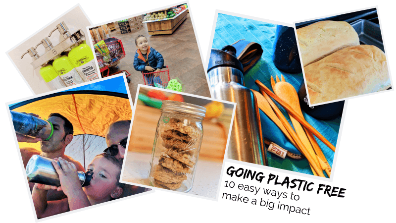 Going plastic free happens in waves, but here are 10 EASY ways to make BIG changes in reducing your plastic waste and consumption. 10 simple steps to less waste. #zerowaste #plasticfree #ecofriendly