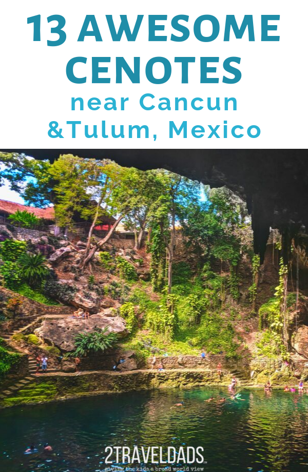 One of the best things to do in Cancun is exploring cenotes: inland swimming caves. It's the perfect beautiful adventure on your Mexico vacation. #mexico #cancun #tulum #nature