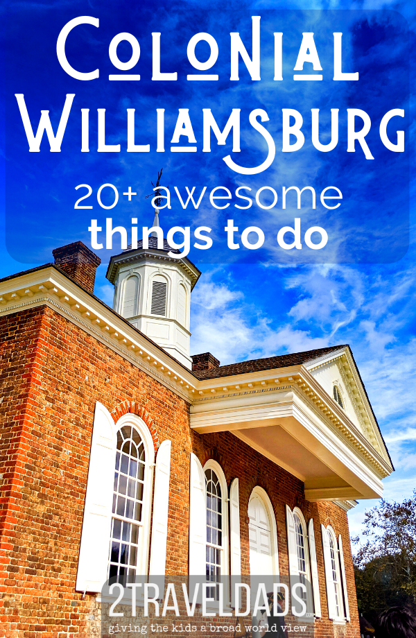 Colonial Williamsburg with kids is perfect for learning about history, enjoying costumes, and having a fun family vacation. Historic architecture and tavern restaurants make this Virginia destination perfect, especially at Christmas. #Williamsburg #virginia #familytravel