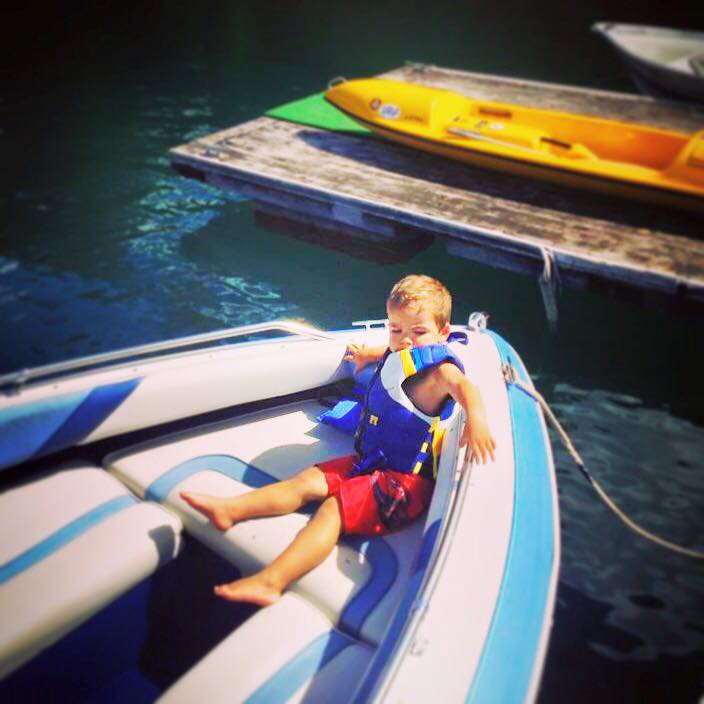 LittleMan in Life Jacket at Cushman
