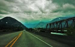 Train Tressle Hwy 14 Columbia Gorge