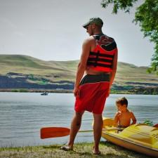 Rob Taylor and LittleMan Kayaking Deadhorse Lake 1