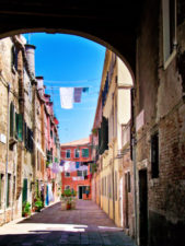 Alleyway with Laundry in Venice Italy 2