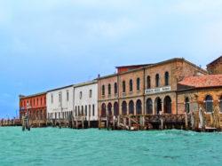 Docks on backsided of Murano Venice Italy 1