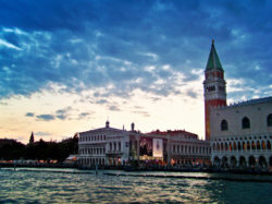 Doges Palace and Campanille of St Marks Square Venice Italy 1