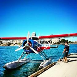 Seaplane in Inner Harbour Victoria BC