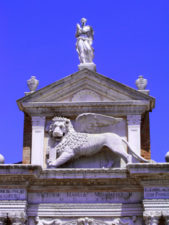 Lion of Venice at Naval Academy Venice Italy 1