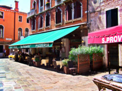 Pizza cafe in neighborhood in Venice Italy 1