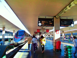 Speed train in Santa Lucia Station Venice Italy 2