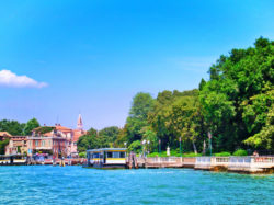 Vaporetto Station at southern bank Venice Italy 1