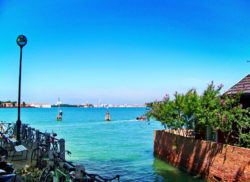 View of Venice from Lido Island Venice Italy 1