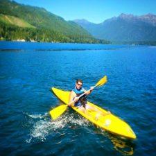 Chris Taylor Kayaking at Lake Cushman