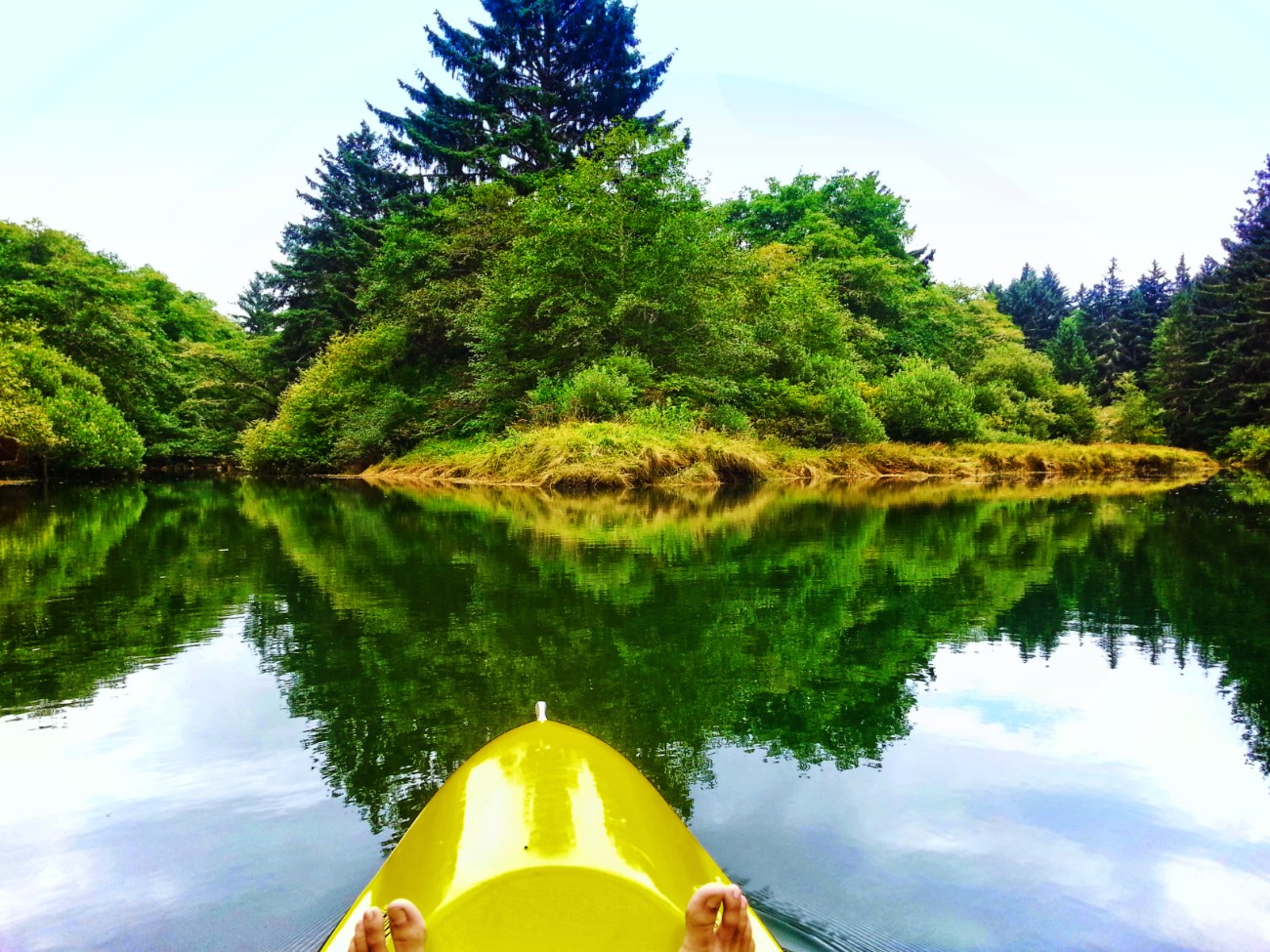 Reflections while Kayaking on Quilute River La Push Olympic Peninsula 2