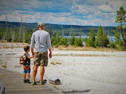 Rob Taylor and LittleMan West Thumb Geyser Basin Yellowstone 1
