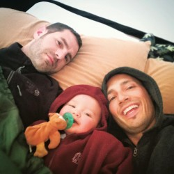 Chris and Rob Taylor with TinyMan Camping Sleeping bag Yellowstone 1