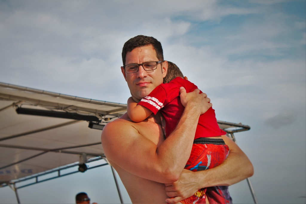 Chris Taylor and LittleMan on Boat Cabo 1
