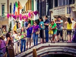 Colorful Tourists Venice