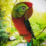 Hand Painted Ceramic Parrot 1