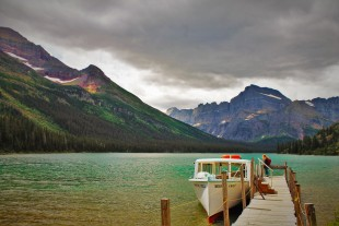 Lake Josephine Boat Dock Glacier National Park 1