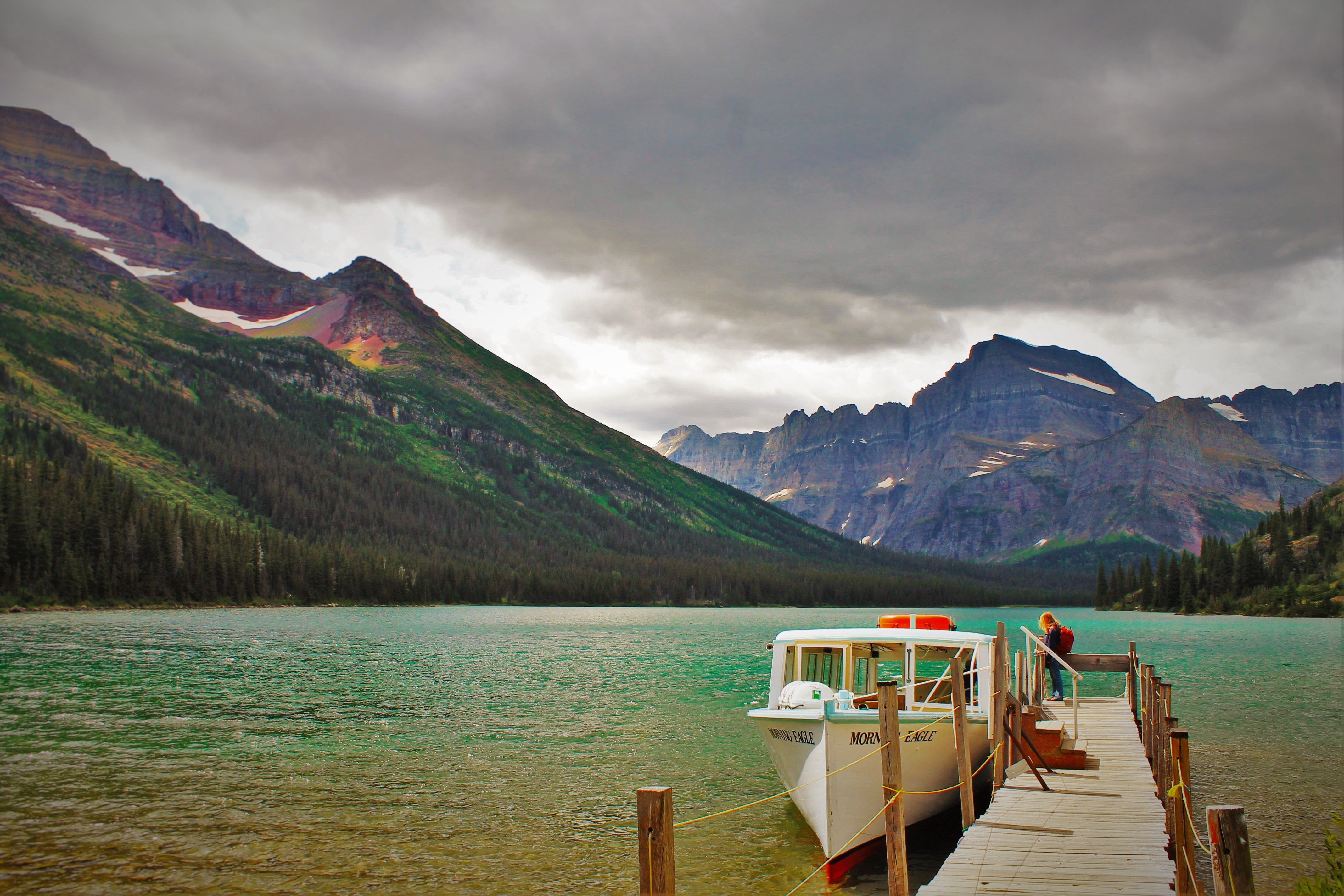 Lake Josephine Boat Dock Glacier National Park 1