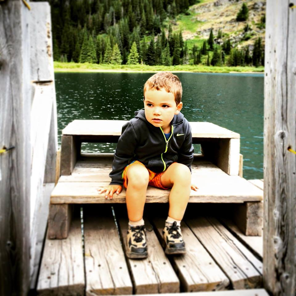 LittleMan on Glacier Park Boat Co dock Lake Josephine Glacier National Park
