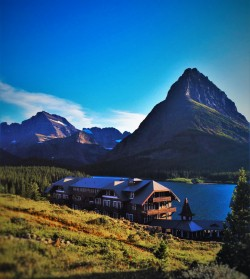 Many Glacier Hotel and Swiftcurrent Lake Glacier National Park 2