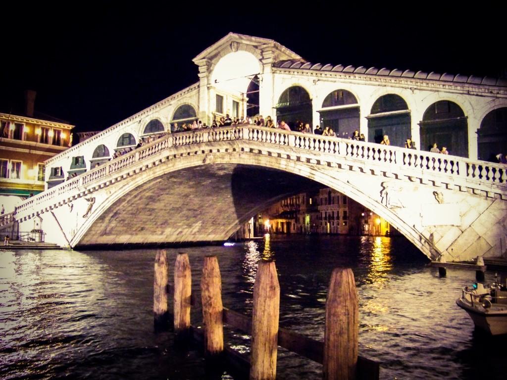 Rialto Bridge at Night Venice