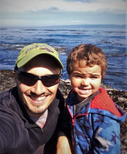 Rob Taylor and LittleMan at Salt Creek Tidepools 1