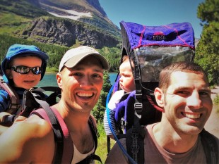 Taylor Family Hiking with kids Glacier National Park 3