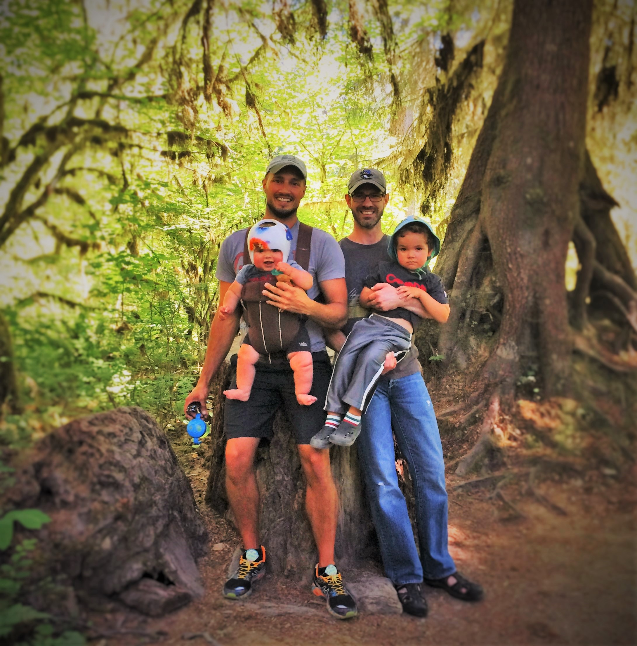 Taylor Family in Hoh Rainforest Olympic National Park 1