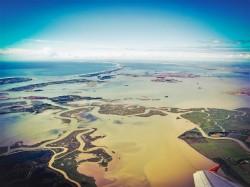 Venetian Lagoon from the Air