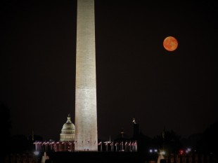 Washington Monument Blood Moon Capitol Building 1