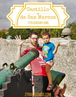 One of the coolest historic sites to visit with kids, the Castillo de San Marcos is the perfect blend of fun, history, beauty and kid-friendly awesomeness. 2traveldads.com