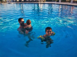 Chris Taylor and Dudes in Pool at King and Prince Resort St Simons GA !