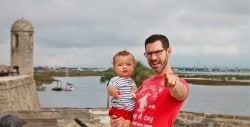 Chris Taylor and TinyMan at Castillo San Marcos St Augustine 1