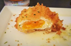 Cripy Egg at Echo Restaurant at King and Prince Resort St Simons GA