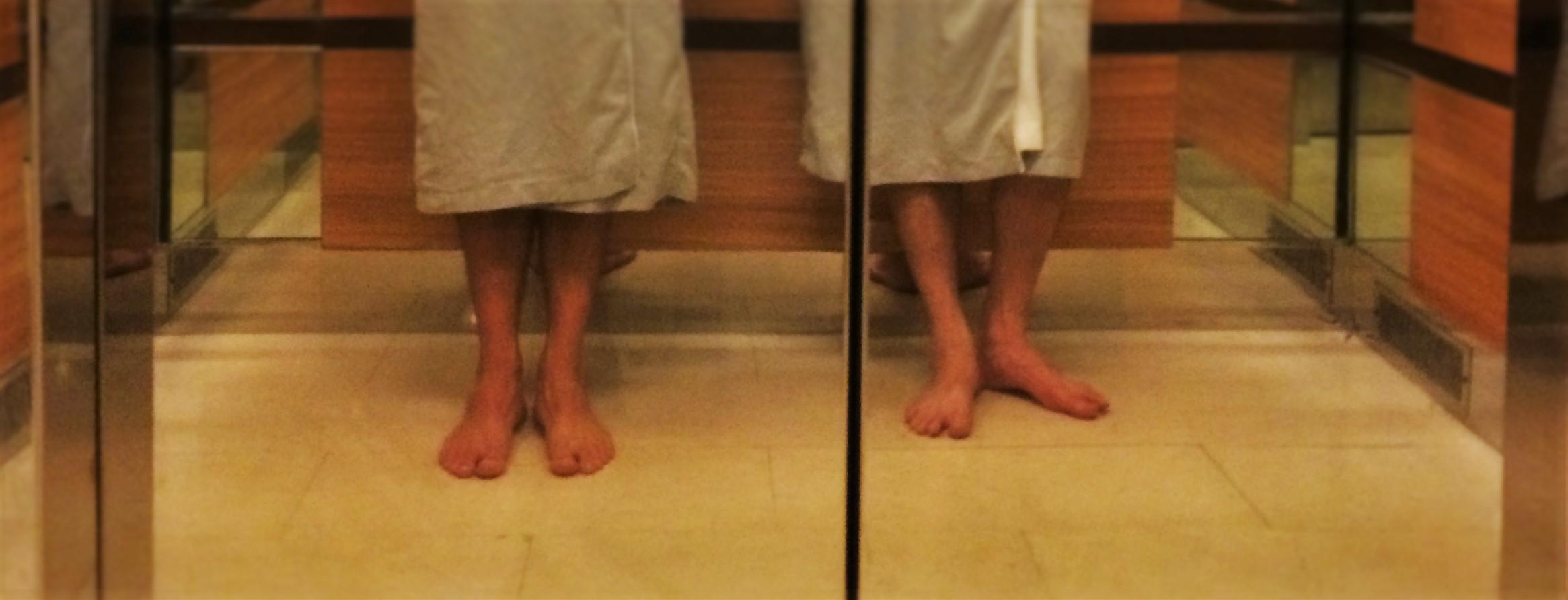 Feet in Elevator at Hyatt Olive 8 Seattle header
