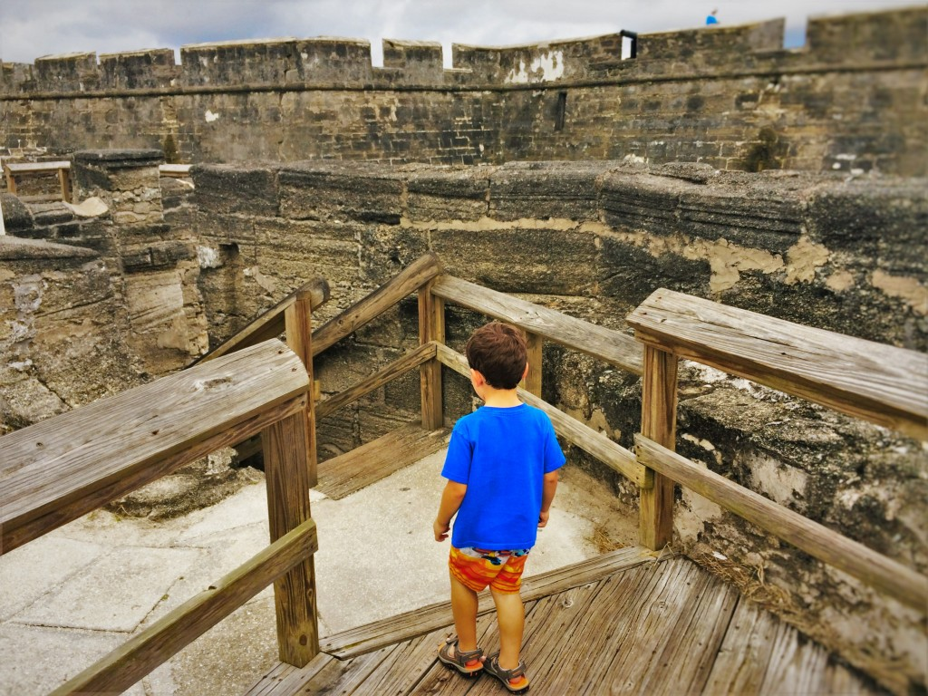 LittleMan on Battlements at Castillo San Marcos St Augustine 1