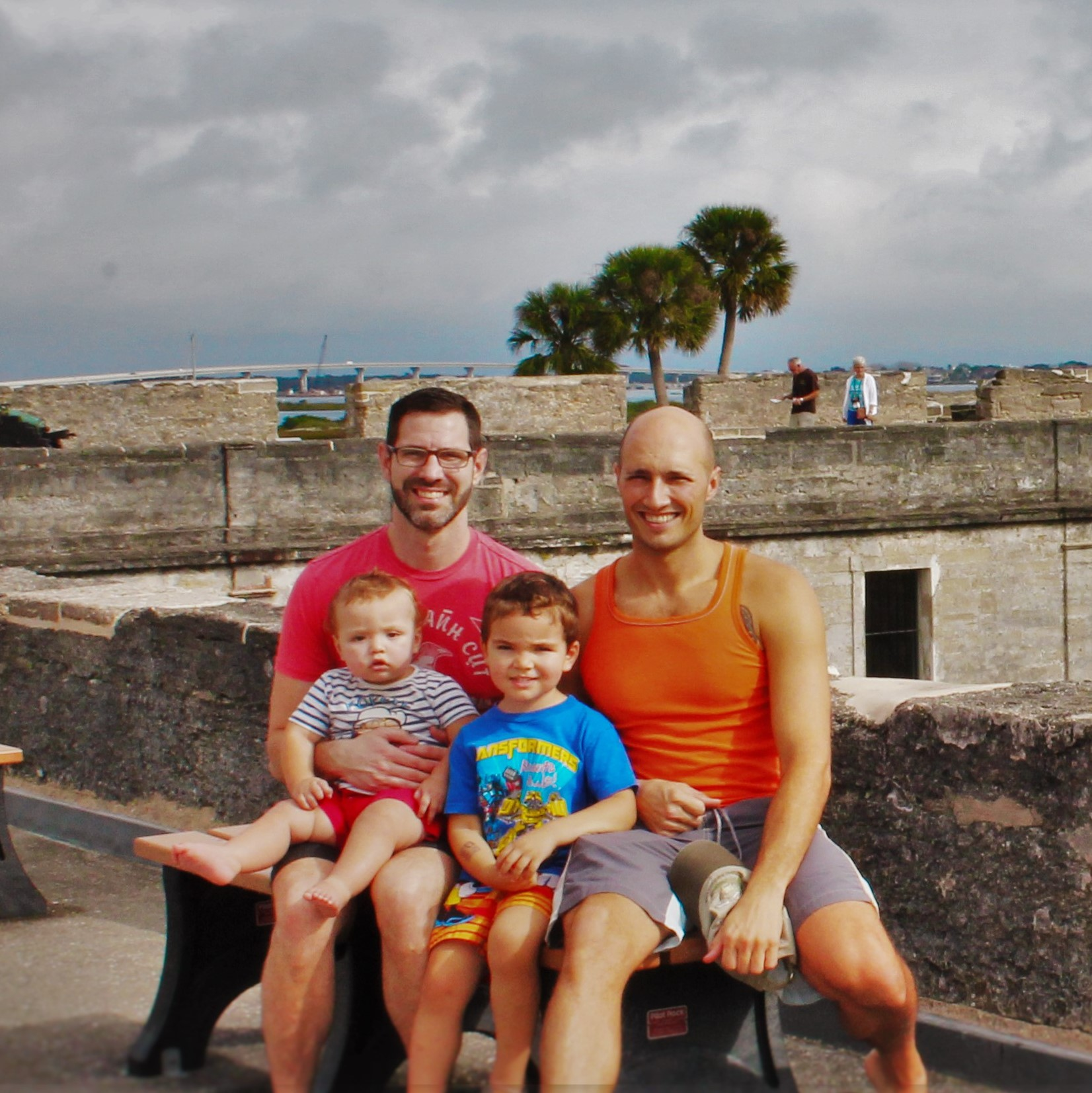 Taylor Family at Castillo San Marcos St Augustine Florida 1 square