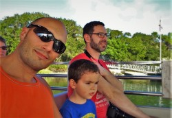 Taylor Family on ferry at Fort Matanzas National Monument St Augustine FL 1