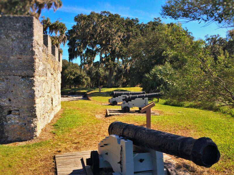 Cannons at Fort Frederica Natl Monument St Simons GA 2