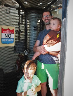 Chris Taylor and Dudes at top of St Simons Island Lighthouse Georgia 1