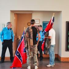 Confederate Racial Protest at Stone Mountain Park in Atlanta Georgia