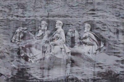 Confederate Relief on Stone Mountain Park in Atlanta Georgia